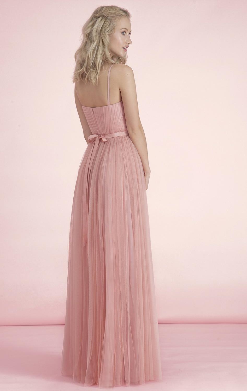 2017 caliente barato formal 3 estilos largo nude blush rosa vestidos ...