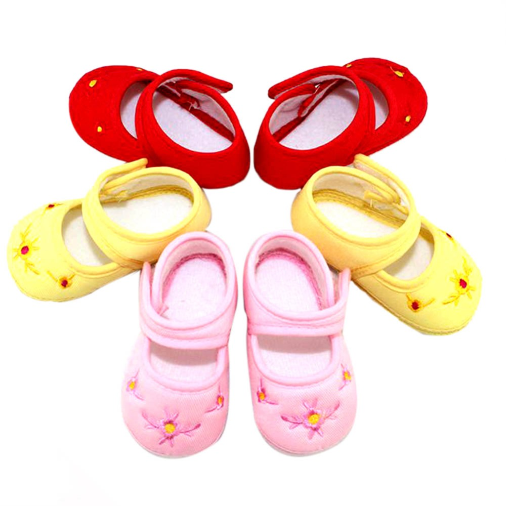 Lovely Baby Toddler Shoes Girls Infant Floral Canvas Sneaker Crib Shoes 3 Size