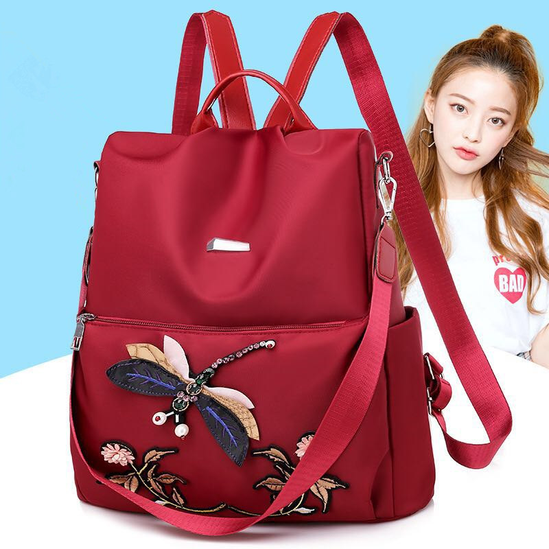 New Fashion Womens Backpack Oxford Women Designer Bag Teen Girl Travel Mochilas