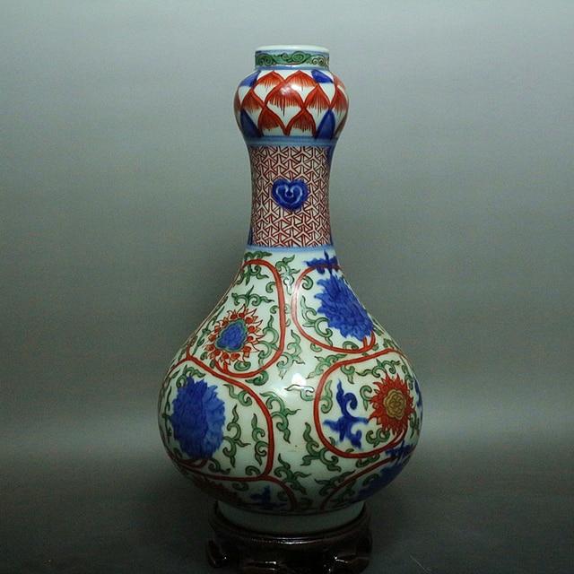 Rare Ming Dynasty Porcelain Vasepastelhand Paintedflower Best