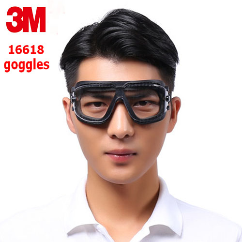 3M 16618 safety goggles Genuine security 3M protective goggles Anti-smoke dust-proof Anti-fog Riding a sport glasses safety недорго, оригинальная цена