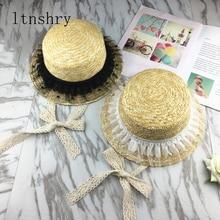 Summer Women Casual Lace Bucket Hats Children Sun Visor Caps Strap Wave Lace Sun Shade Hats Girls Straw Beach Brimed Sun Hat catalog sun wave