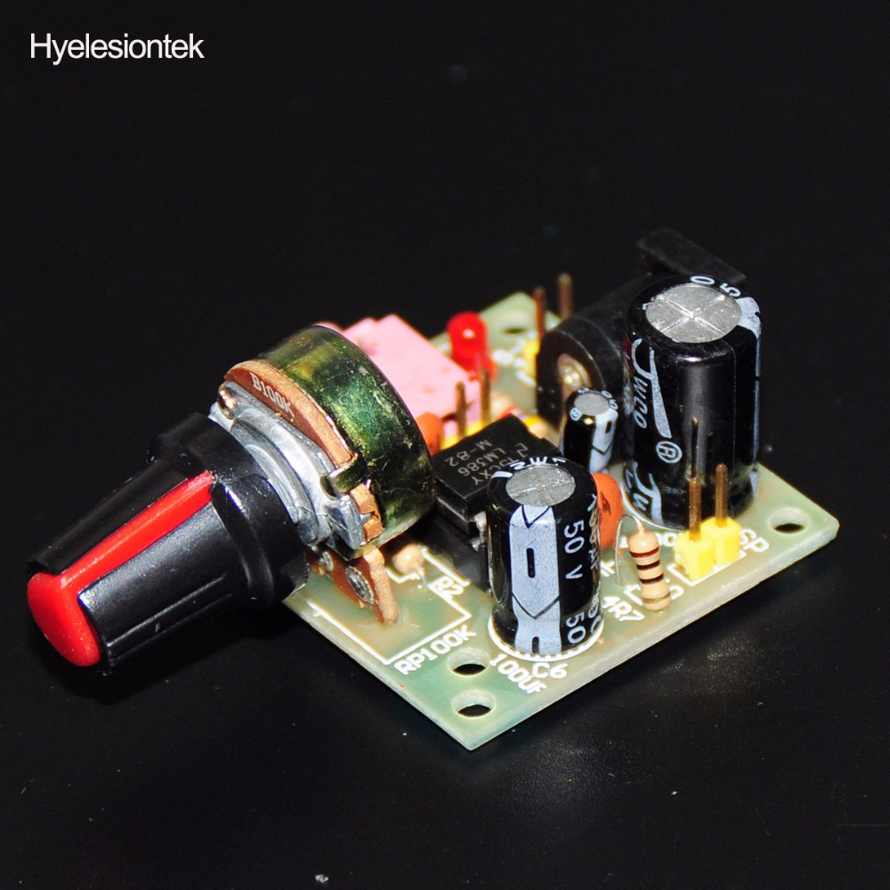 Lm386 Super Mini Audio Amplifier Electronic Kit Circuit Board Tda2822 Circuits And Diagram Amplificador Module Power 35mm 3 12v Dc Mono In Integrated From