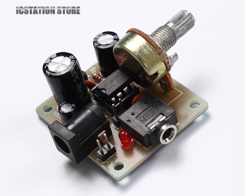 Micro LM386 Audio Amplifier Power Amp Module Mono One Channel DIY Kits DC 3V To 12V Input  цены
