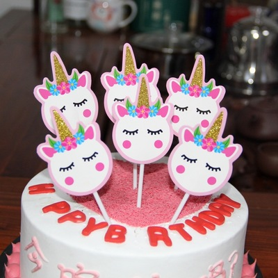 Superb Cheap Unicorn Cake Topper Wedding Cupcake Decoration Happy Funny Birthday Cards Online Elaedamsfinfo