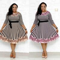 africa clothing dresses for women nigerian long african skirt african striped print dresses bazin riche women plus size african