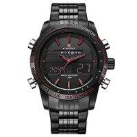 NAVIFORCE Men S Watches Top Brand Luxury Military Dual Display Quartz Wristwaches Black Steel Sport Clock