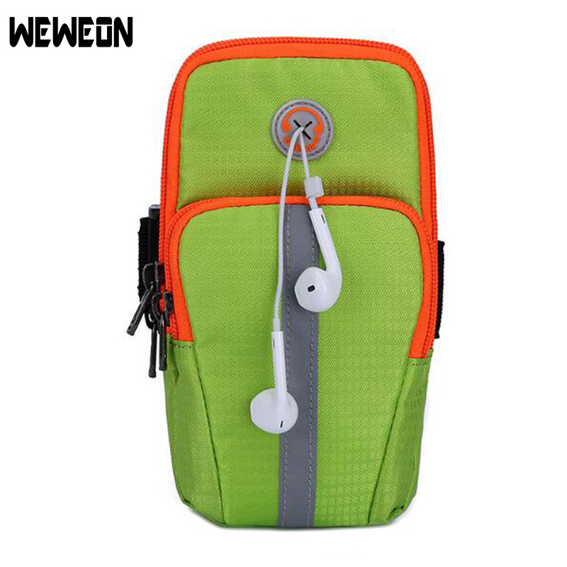 Unisex Outdoor Sport Running Arm Bag Wrist Pouch Exercise Jogging Gym Bag Adjustable Waterproof Phone Arm Bag