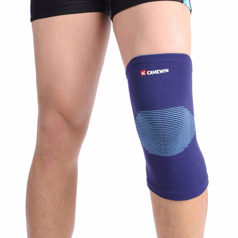 1 Piece Knee Protector Pads Warm CAMEWIN Brand High Elasticity Knee Support Relieve Arthritis Gym Sports Outdoor Guard Kneepad 1 piece leg elastic sports knee brace wrap protector cap patella knee guard rubber pressurization knee sleeve pads q7 brand new
