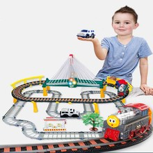 Road railway toys for children DIY Track car 1:25 luminous track curved flashing set model car Kids Pipes Racing Truck vip link mylitdear electric racing rail car kids train track model toy railway track racing road transportation building slot sets toys