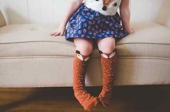 เด็กเล็กกลาง Fox ถุงเท้าสามมิติ Super น่ารัก Fox Pantyhose ถุงเท้ายาว