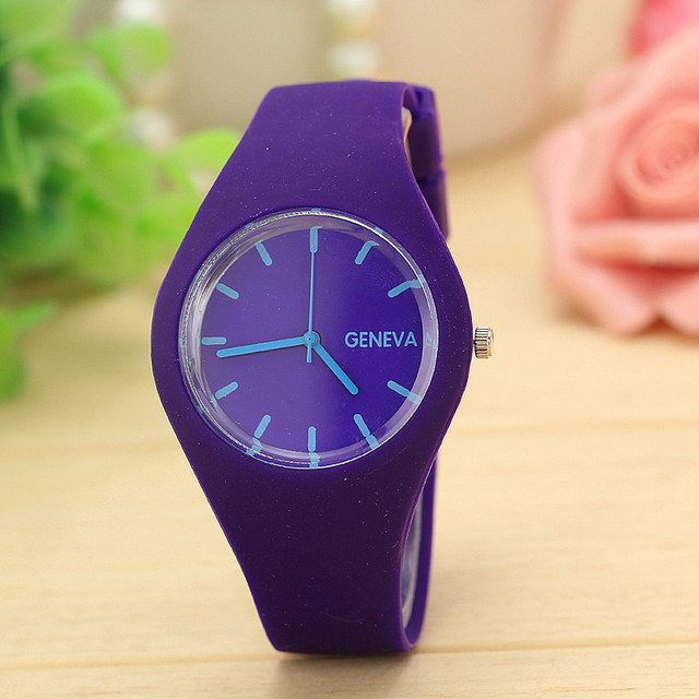 appearance Children watches Women Girl Boy Leisure Sports Clock Candy colored Jelly Watch Silicone Strap Relogio Feminino Saat