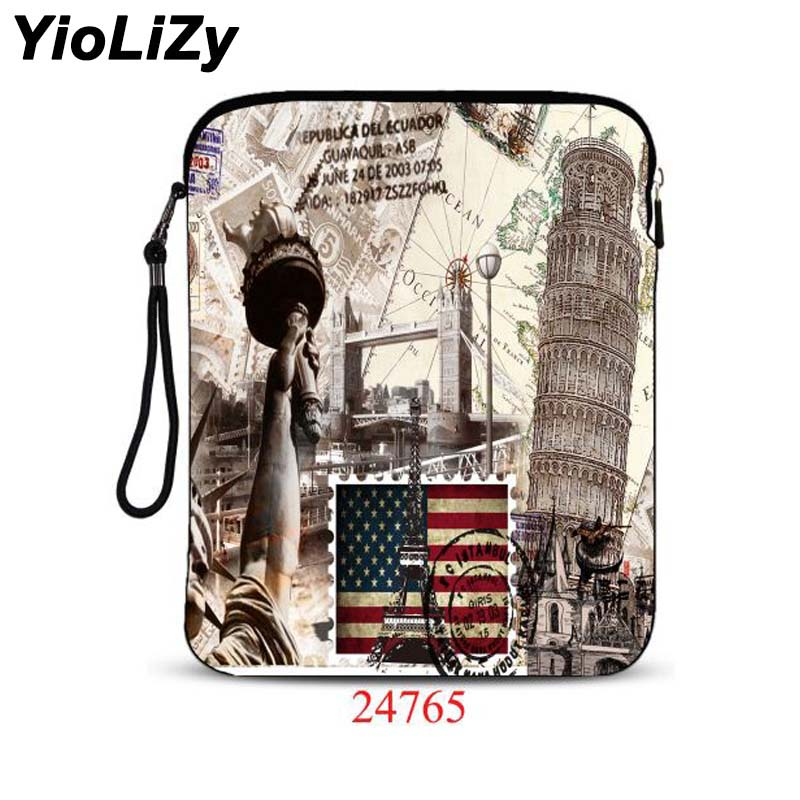customize wolf print 9.7 tablet bag Cover notebook protective sleeve laptop Case pouch For iPad Air 2 for ipad pro 9.7 IP-24765