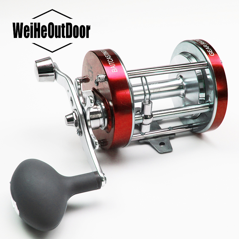 Full Metal 615g Right Hand 2+1BB CL-70 Bait Casting Reel Deep Sea Saltwater Cast Drum Fishing Wheel Pesca Tackle Carp Fishing
