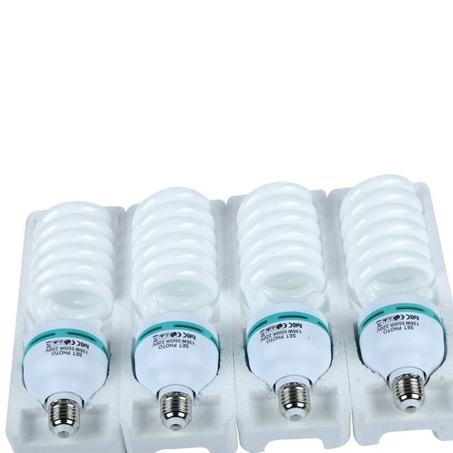Bombilla fluorescente de luz diurna para fotografía, Base E27, 135 K, 4x5500 W, para Softbox, sesión fotográfica