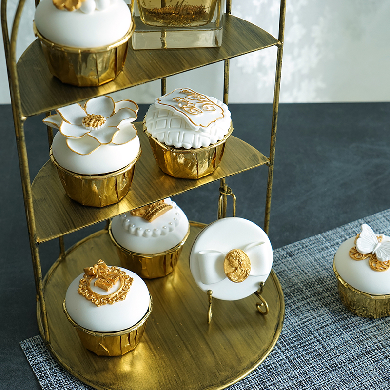 Vintage Gold Color Cake Stands Birdcage Type Cupcake Stands Birthday Wedding Cake Decorations Food Dessert Plates Photo Props-in Cake Decorating Supplies ... & Vintage Gold Color Cake Stands Birdcage Type Cupcake Stands Birthday ...