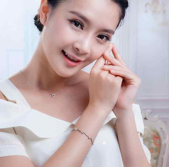 OMHXZJ Wholesale Fashion present High Quality AAA Zircon Amethyst 925 Sterling Silver purple Gift Women Bracelets Bangles SZ26
