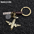 2018 airplane aeroplane model keychain key ring plane aircraft key chain key holder creative chaveiro portachiavi llaveros hombr