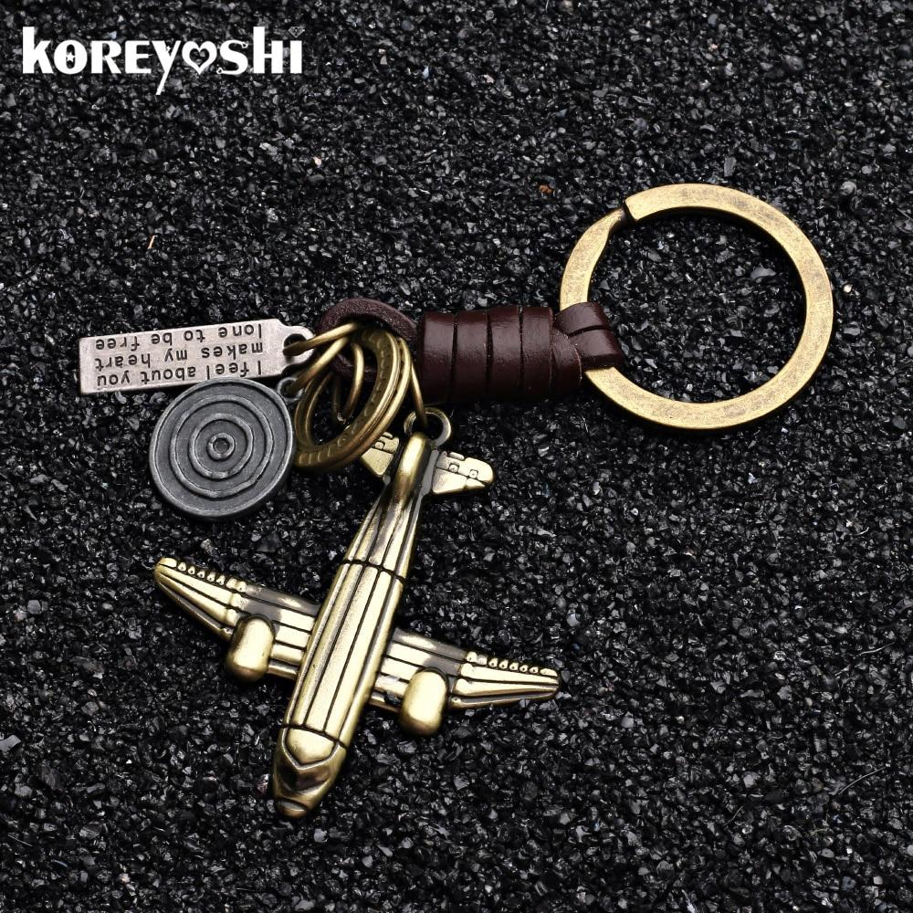 Wilk 1pcs Metal Hemp Leaves Keychain for JDM Car Emblem Styling Fashion Key Chain Fob Ring Yellow
