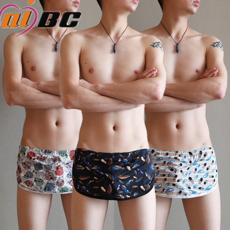 Brand Aibc Male Boxer Shorts Sexy Man Panties Men Lounge Underwear Casual Boxer Sexy Fashion Male Shorts