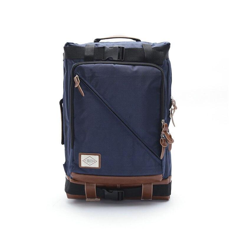 Men's Korean fashion zipper nylon shoulder bag wear, burden, waterproof, anti-theft, shock, breathable creative casual nylon men 4