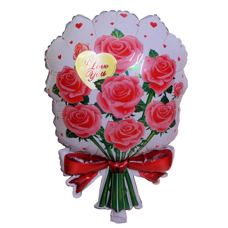 x cm flor roja en forma de ramos de globos decoracin del partido suministros globo boda