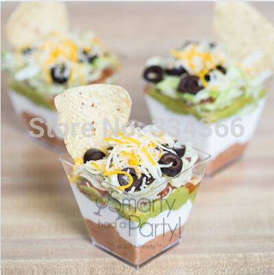 Fresh 25pcs/lot 2OZ Plastic Disposable Hard Plastic Cup Dessert Cup  HJ65