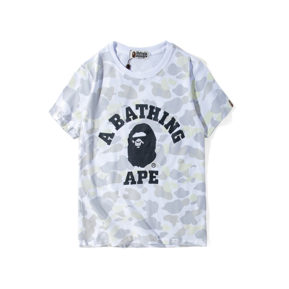 a18ceda7b a bathing ape t shirt short sleeve luminous white camouflage cotton bathing  ape-in T-Shirts from Men's Clothing on Aliexpress.com | Alibaba Group