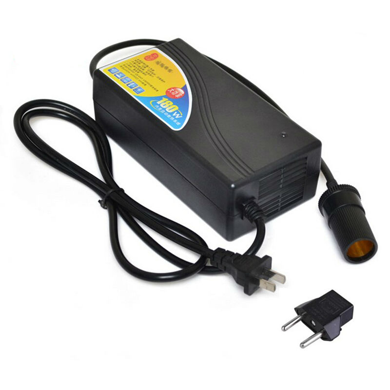 Allume-cigare de voiture 180W EU US 15A convertisseur d'alimentation AC 220V(100 ~ 250V) entrée DC12V sortie adaptateur prise pour pompe à Air de voiture