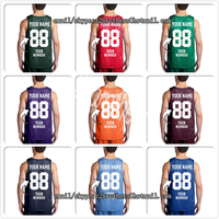 Wholesale OEM Custom Basketball Jersey Men Woen Youth Design Your Own Team Logo Embroidered Any Color & Style Player Name Number