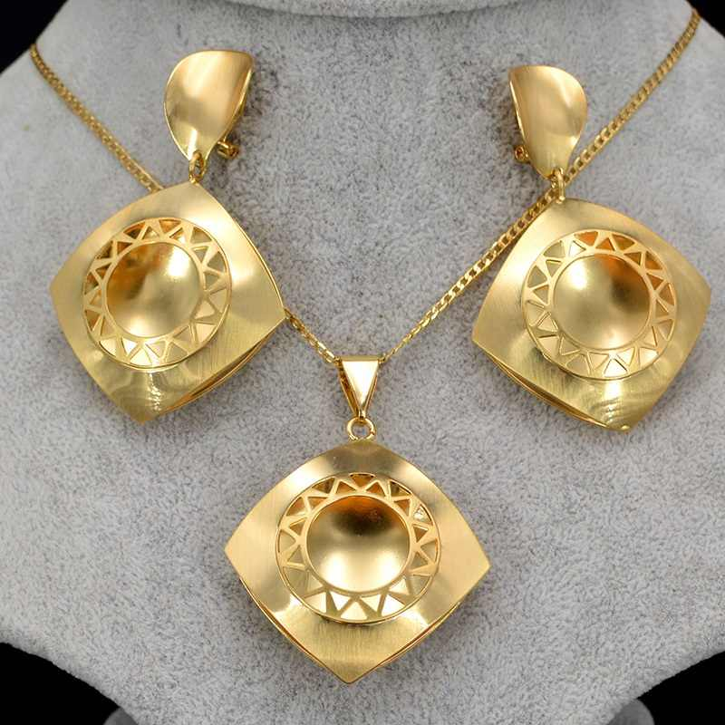 Sunny Jewelry Fashion Jewelry 2019 Necklace Earrings Pendant Jewelry Sets For Women Square For Party Wedding Daily Wear Gift