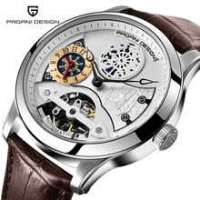 PAGANI DESIGN Tourbillon Automatic Mechanical Watches Men Leather Watch Skeleton Mens Watches Luxury Sport Business Wristwatches business tourbillon mens watches first brand luxury waterproof punch proof watch men s automatic mechanical skeleton watch