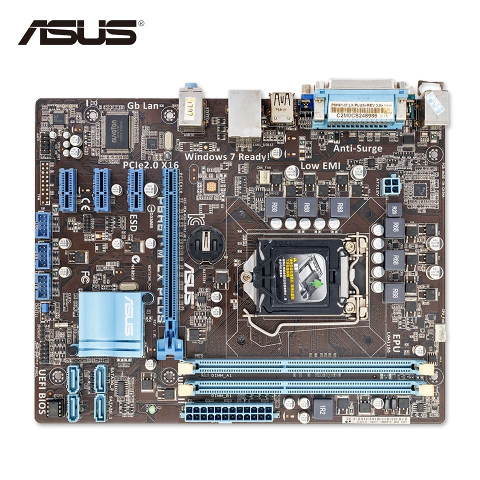все цены на  Asus P8H61-M LX PLUS Original Used Desktop Motherboard H61 Socket LGA 1155 i3 i5 i7 DDR3 16G uATX On Sale  онлайн