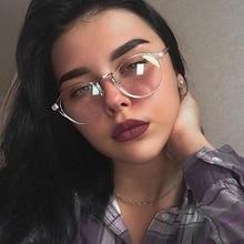 2019 Eyeglasses Frame Women Transparent Round Glasses Clear Spectacle Myopia Men Nerd Optical Frames Black
