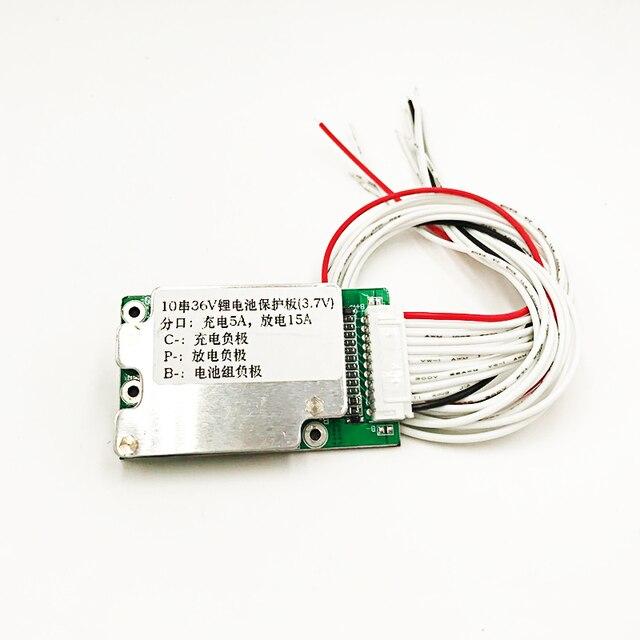 بطارية دراجة كهربائية 10S 36V ليثيوم أيون خلية 15A 18650 حماية البطارية BMS PCB لوحة التوازن