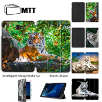 MTT Print Tiger For Samsung Galaxy Tab A 10 1 Case Flip Stand Cover For Samsung