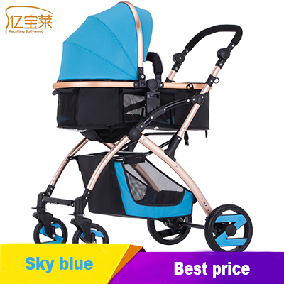US $102 95 29% OFF| high landscape baby stroller can sit and lie baby  stroller four wheeled cart folding stroller-in Strollers Accessories from  Mother