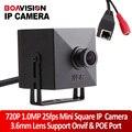 Full HD 1.0MP 25fps Мини Ip-камера С PoE Порт 720 P Securiy Сеть HD CCTV Камеры 3.6 мм Поддержка Телефон Android IOS Вид P2P