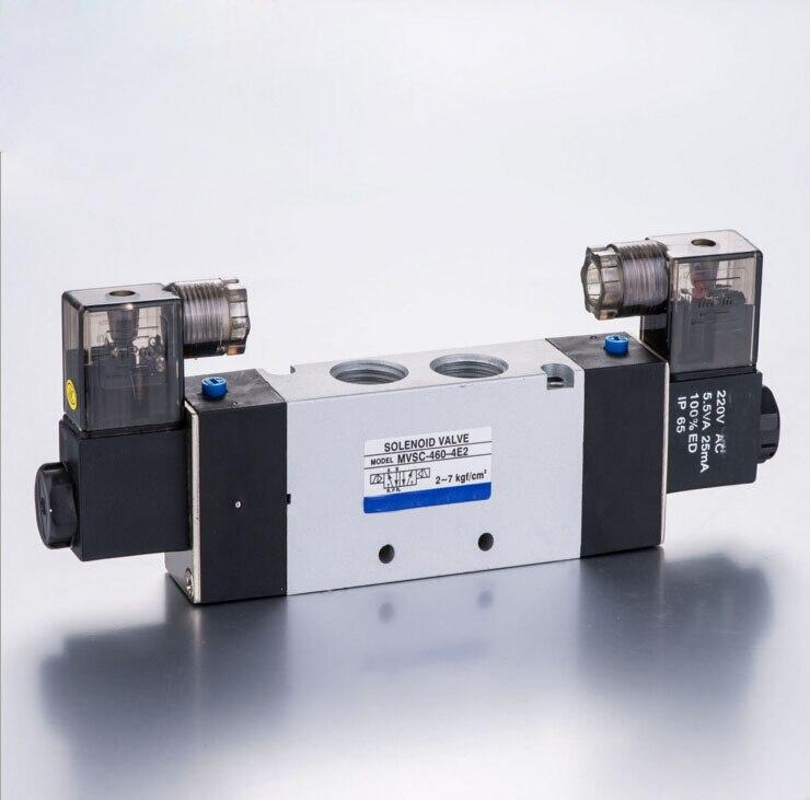 1/2 Mindman MVSC460 Series Solenoid Control Valve double solenoid valve with voltage DC24V,,AC110V,AC220V 4v series 24v dc solenoid valve