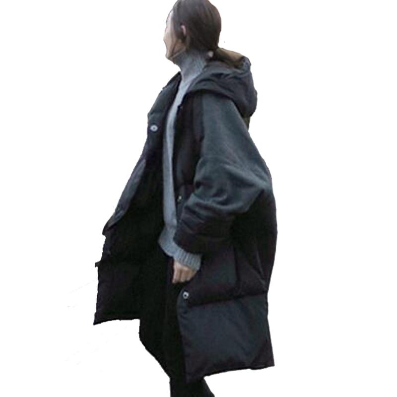 Le Lâche Épais Capuchon Coréenne Manteau Femmes rembourré Thicke Et Chaud À D'hiver Casual Bas D220 Veste 2016 Coton Style Nouvelle Mode Vers Long pGUqSzMV