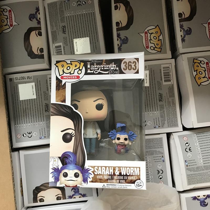 Funko pop Oficial de Filmes: Labirinto-Sarah e Worm Vinyl Action Figure Collectible Modelo Toy com Caixa Original