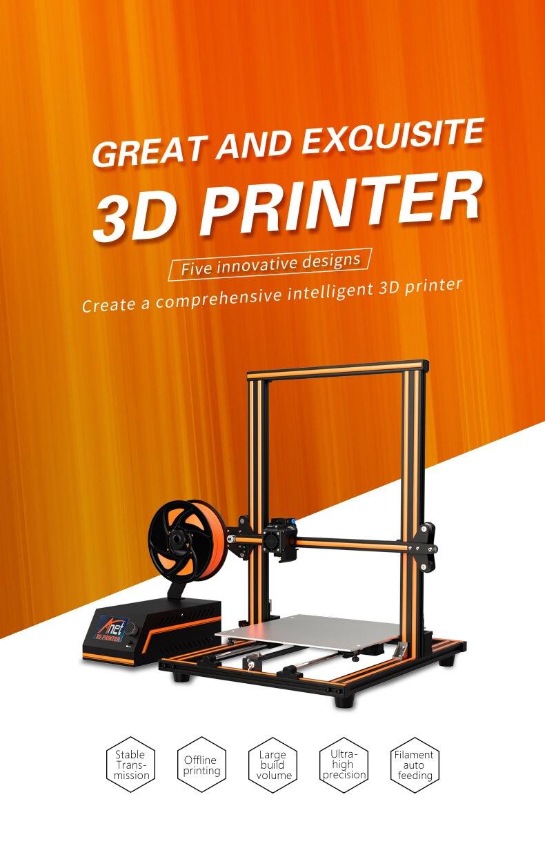 2019 Anet E10 E12 E16 Eagle Serial 3D Printer with 300*300*400mm Large  Printing Size Impresora 3D Printer New Arrial