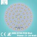Shipping10pcs grátis 3 W 5 W 7 W 9 W 12 W 15 W 18 W 20 W 24 W 5730 brilho SMD Luz Painel de Led Board Lâmpada para PCB Teto com LED
