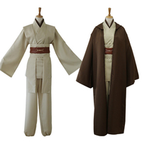 Halloween Cosplay Star Wars Jedi Knight Anakin Cosplay Costume Solid Color Custom Made Men Women Size High Quality Clothing
