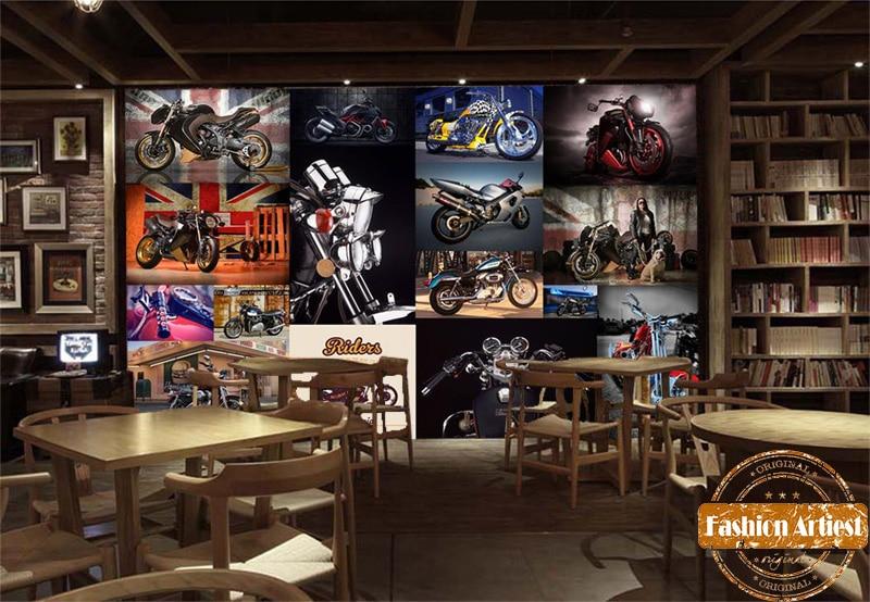 Aliexpress.com: Compre Personalizado Do Vintage Moto Corrida Rocha Harley  Davidson Motocicleta Tv Sofá Quarto Papel De Parede Mural Sala Cafe Bar  Definir ... Part 65