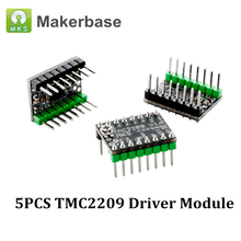 5 adet MKS TMC2209 UART step Motor sürücü modülü Stepstick sessiz sürücü VS TMC2208 TMC2130 MKS SGen L kurulu 3D yazıcı parçaları