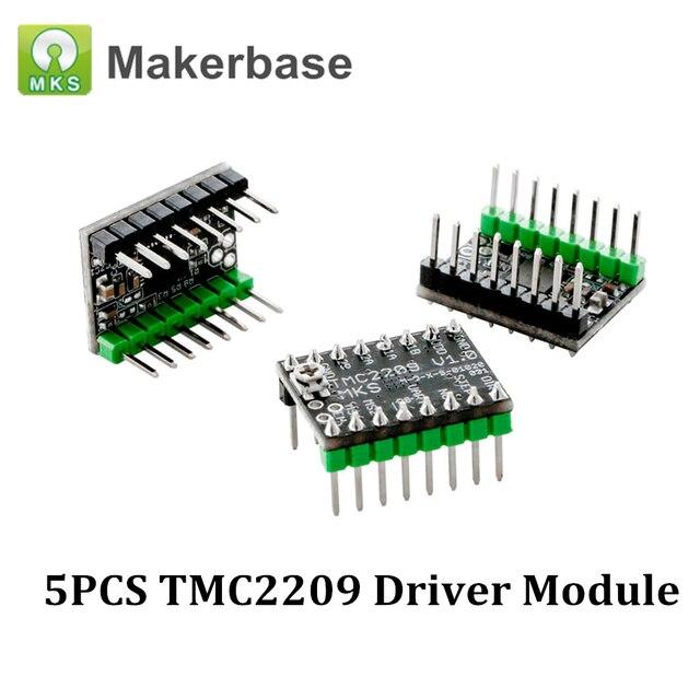5PCS MKS TMC2209 UART Stepper Motor Driver Module Stepstick Mute Driver VS TMC2208 TMC2130 For MKS SGen L Board 3D Printer Parts