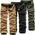 Size29-40 100% Algodão de Moda Solta Dos Homens de Carga Calças de Camuflagem Do Exército Militar Homens Casuais Calças Largas Pantalones Hombre