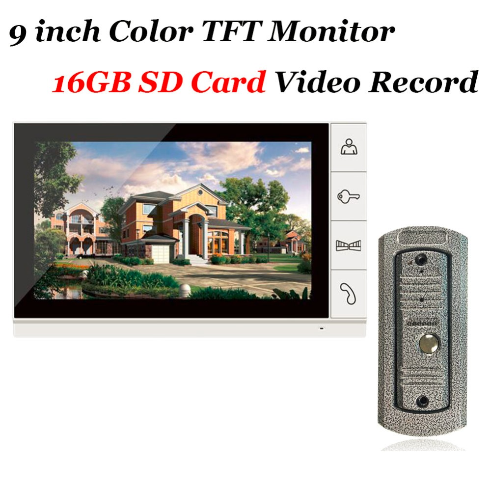 Home use 9 inch Color TFT Monitor 16GB SD font b Card b font Video Record