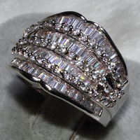 Wholesale Fashion Ring mix size 12PCS PER LOT AAA zircon,This product has 109 stone ALW1325